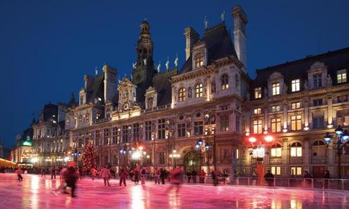patinoire hotel de ville paris noel