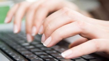Redaction profil sur un clavier